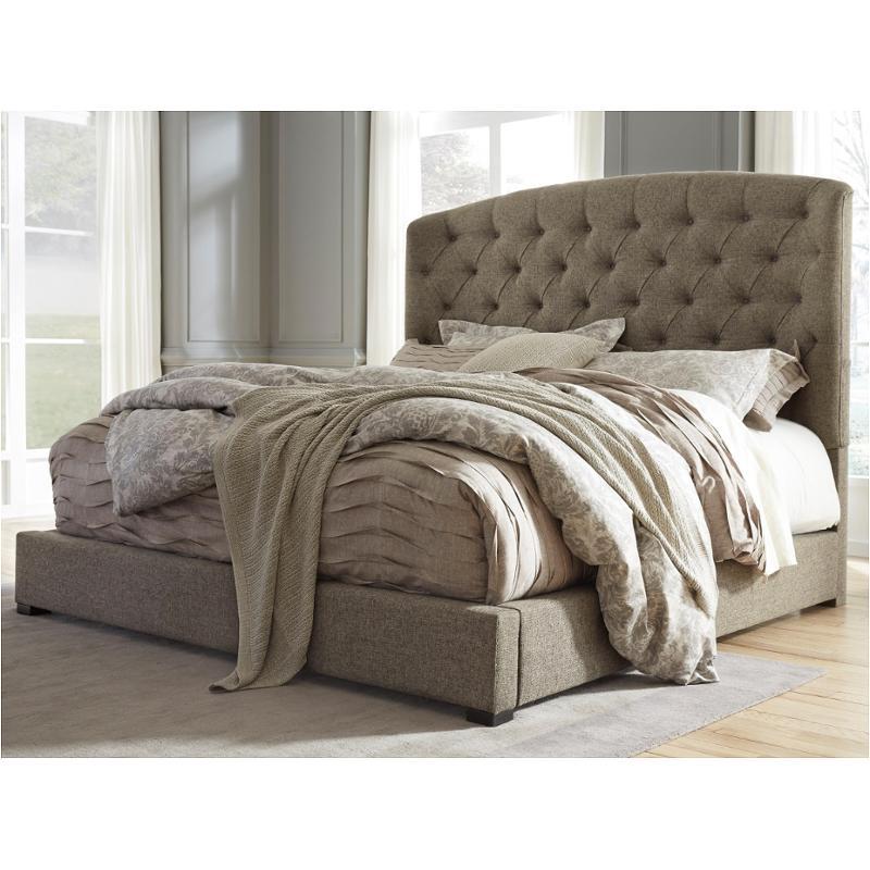b657 77 ashley furniture gerlane dark brown queen upholstered bed