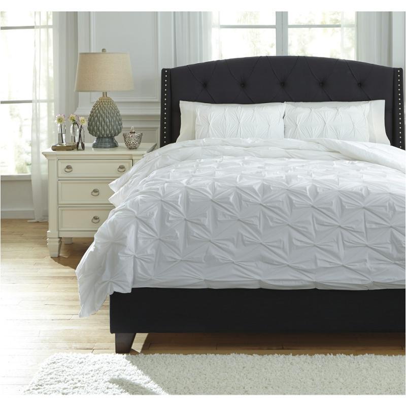 q756013q ashley furniture rimy white queen comforter set
