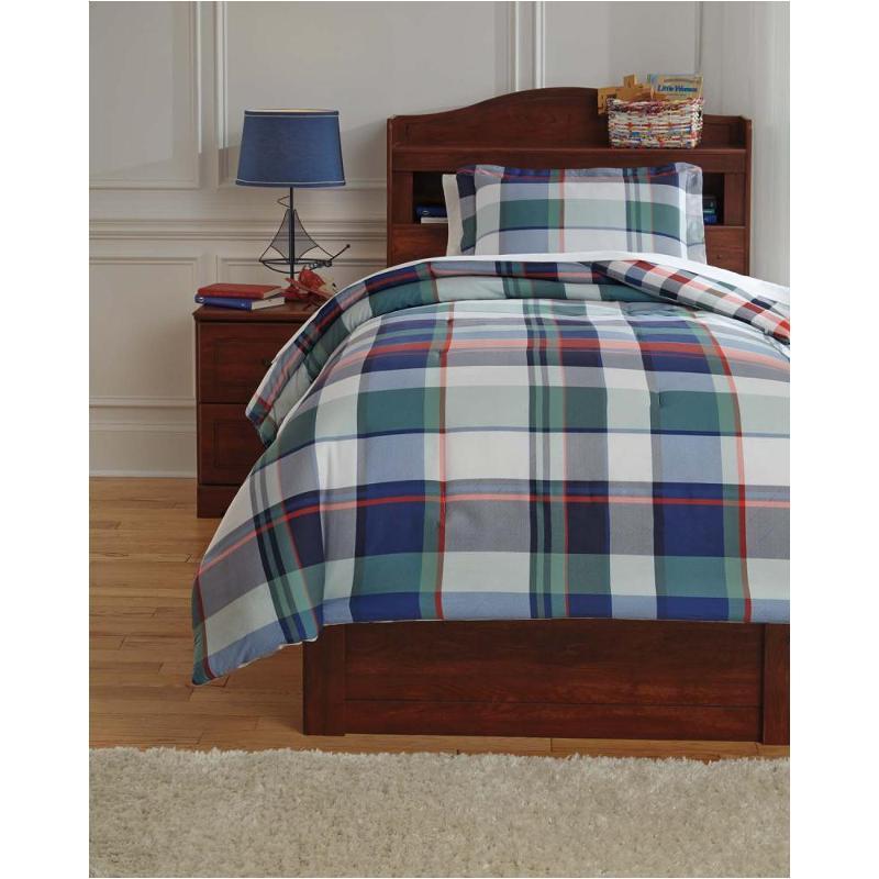 q773001t ashley furniture mannan plaid twin comforter set