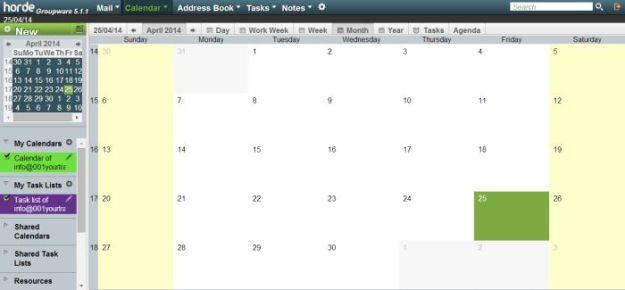 Horde Mail calendar