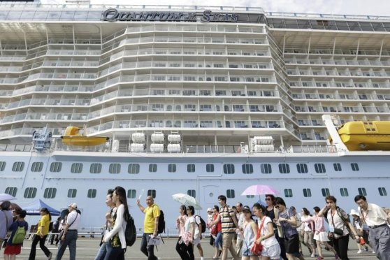 Oasis of the Seas en Hakata. Foto: The Japan Times.