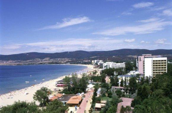 O plajă din Bulgaria la coasta Mării Negre.
