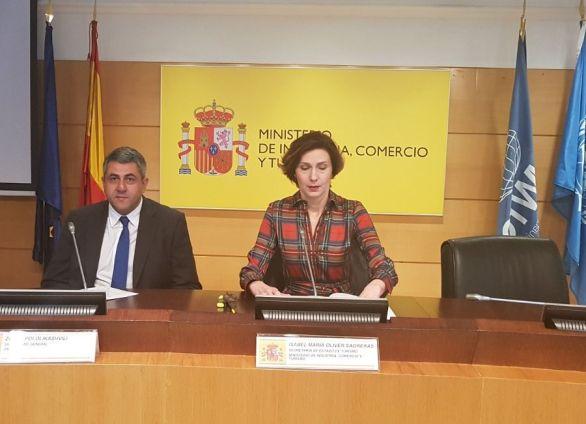 Zurab Pololikashvili, secretarul general al OMT, într-o conferință de presă la Madrid.