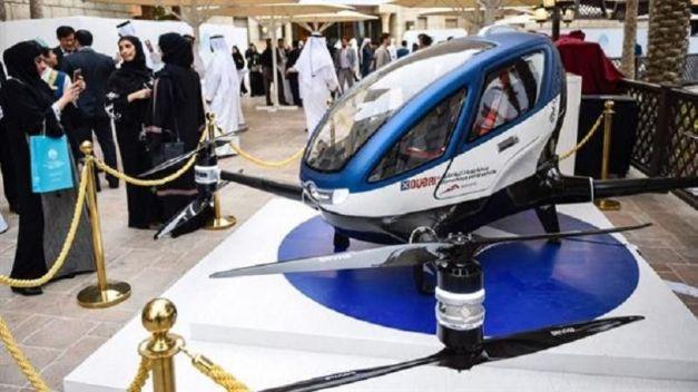 Taxiul dron din Dubai.