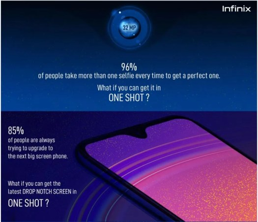 Infinix teases smartphone with 32MP selfie camera camera in