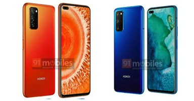 [Exclusive] Honor V30 press images confirm punch-hole display with dual selfie cameras
