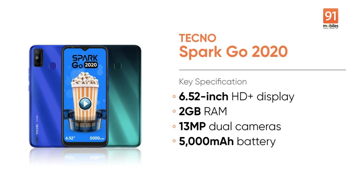 Tecno Spark Go 2020 launched: price, specifications   91mobiles.com