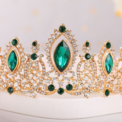 Luxury Gold Crystal Pageant Crown