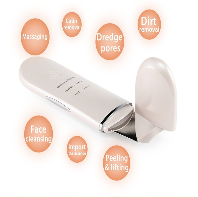 Rechargeable Ultrasonic Ion Facial Scrubber