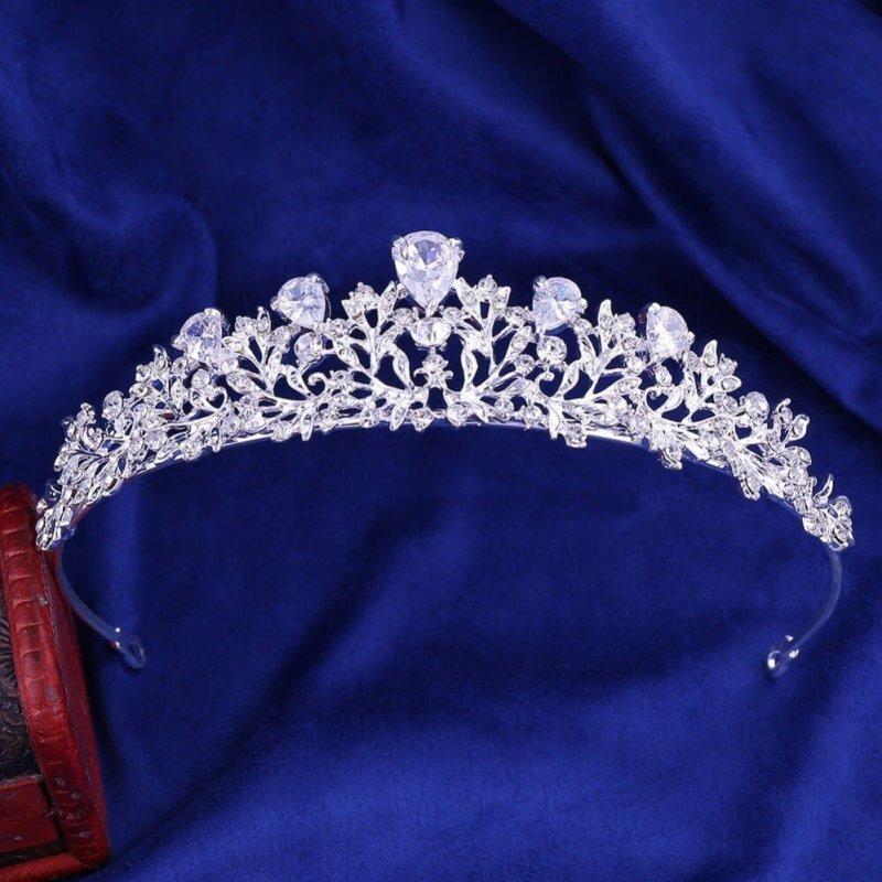 Luxury Noble Crystal Leaf Bridal Jewelry Sets