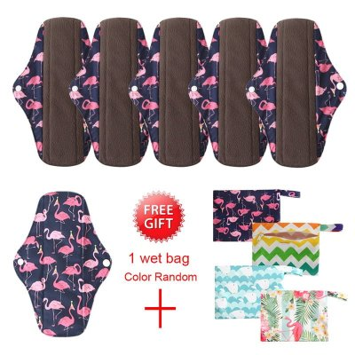 6pc Bamboo-charcoal Menstrual Pads