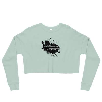 Crop Paint Me Love Fleece Sweatshirt