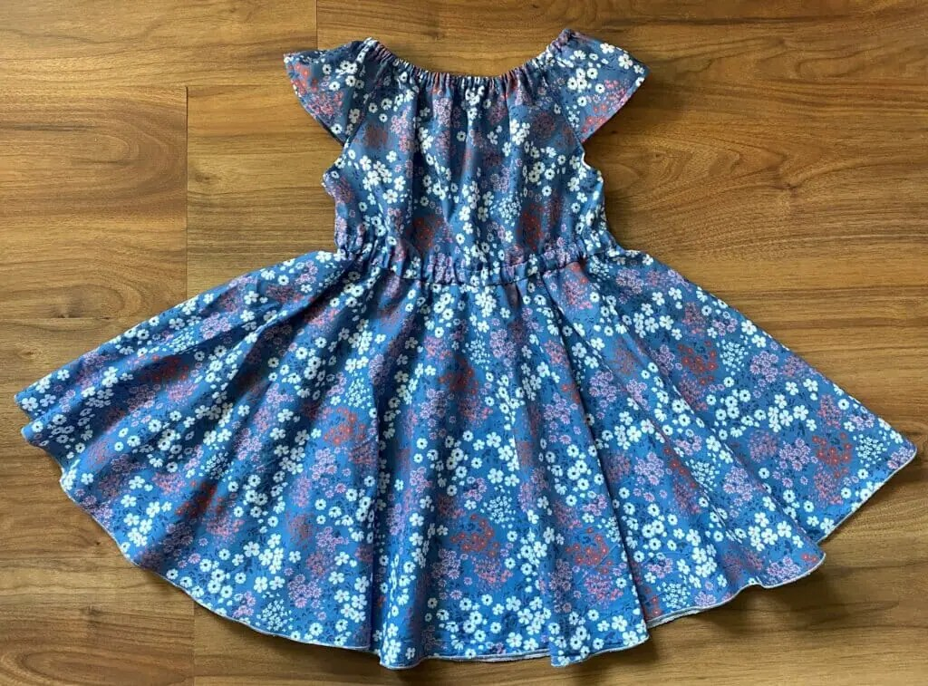Little Girls Summer Dress with Circle Skirt - Easy Sewing Tutorial