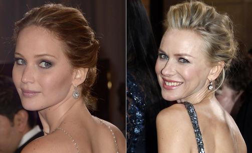 Jennifer Lawrence ja Naomi Watts