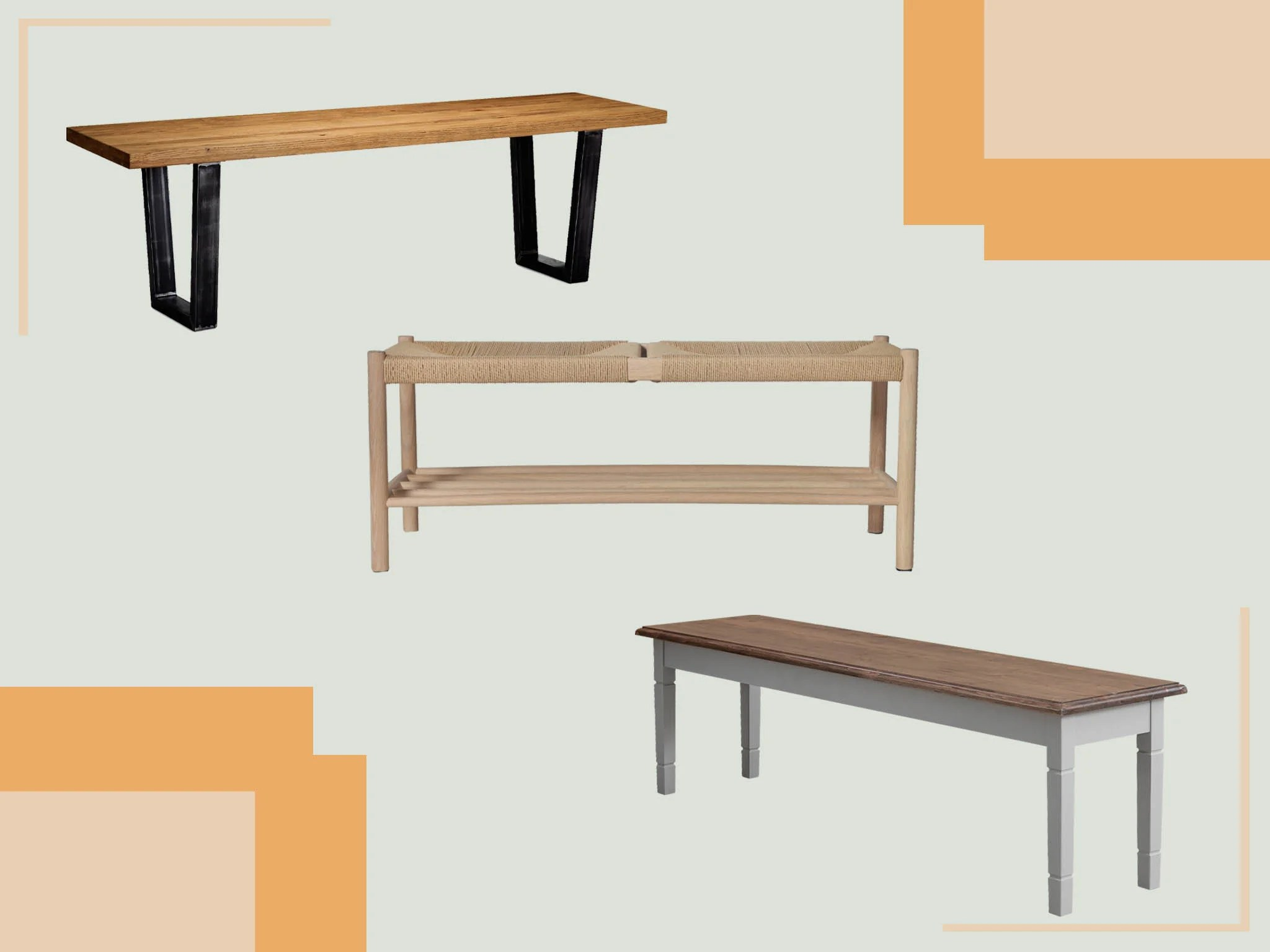 best bench 2020 oak rattan wood and