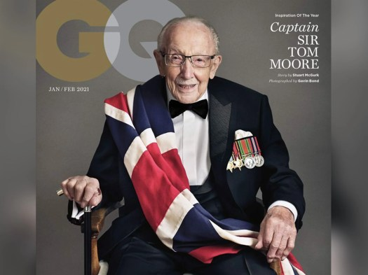 Captain Sir Tom Moore becomes British GQ's oldest cover ...