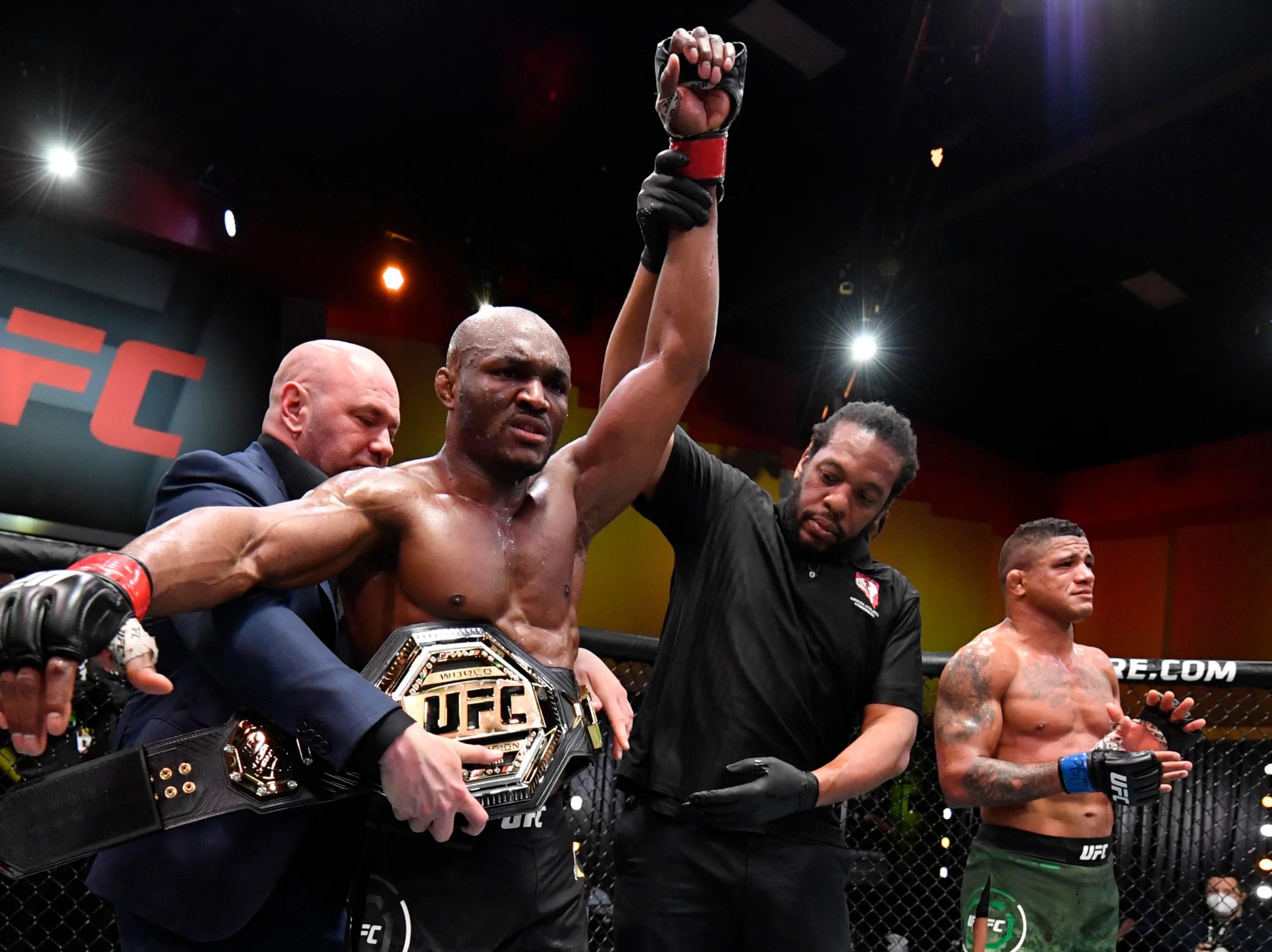 UFC 258 results: Kamaru Usman stops former team-mate Gilbert Burns to  retain welterweight title   The Independent