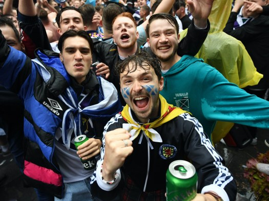 'Party atmosphere': Scotland fans jubilant in London, as Tartan Army earn point in draw with England 2