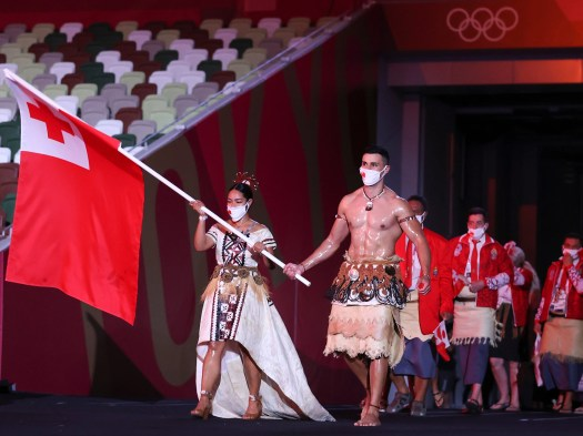 'The oily guy is back': Internet reacts to Tonga flag bearer at Tokyo 2020 2