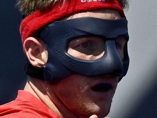 Why does Team GB hockey's Sam Ward wear a mask? 2