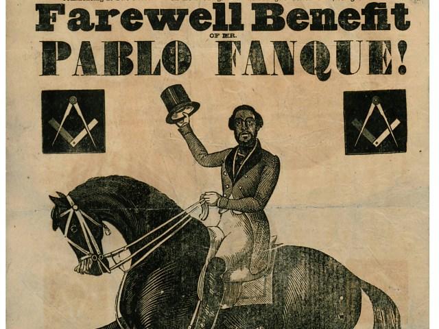 <p>Pablo Fanque poster, 1847</p>