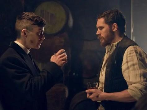Cillian Murphy & Tom Hardy in Peaky Blinders S2