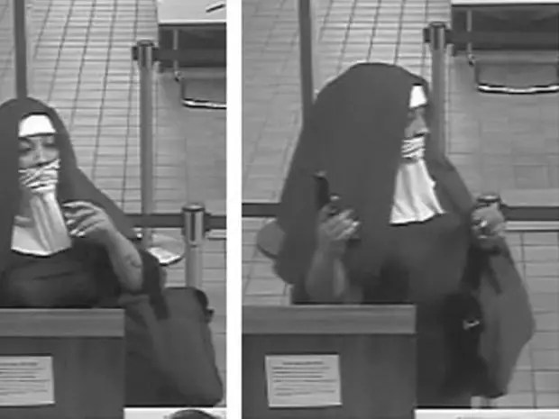 Image result for Two women dressed as Catholic nuns rob bank