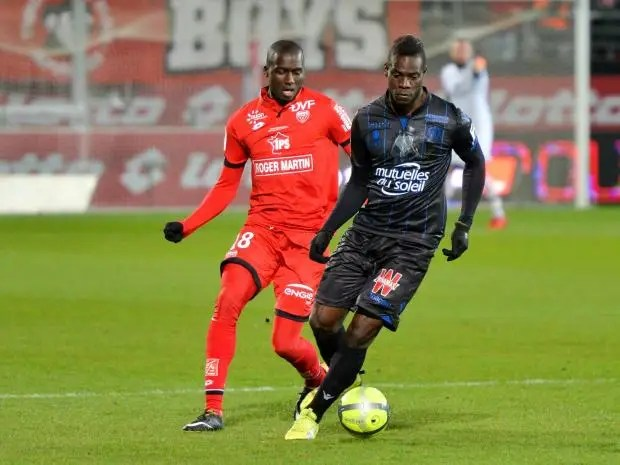 Image result for Balotelli and Dijon yellow card