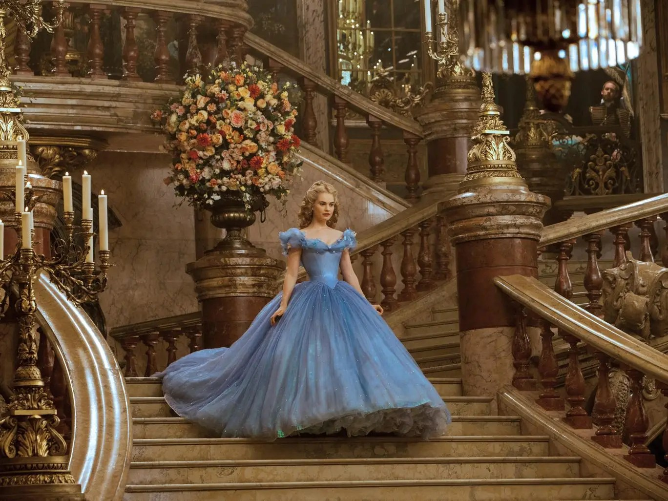 Lily James in 'Cinderella'