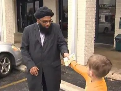 Seven-year-old Jack Swanson donated $20 to the mosque