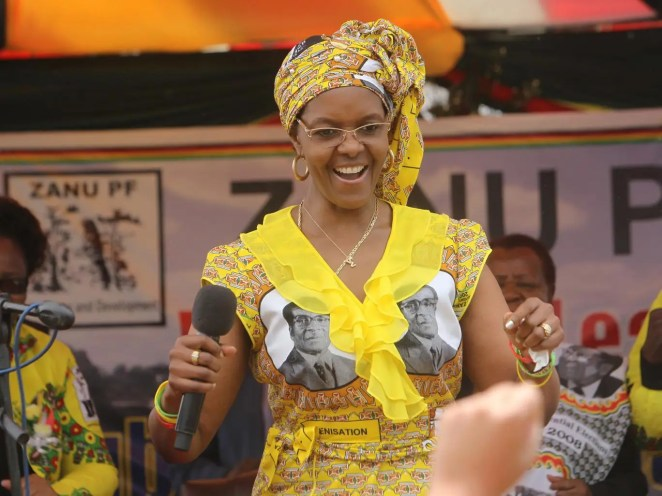 Grace Mugabe says her husband will not retire and that she will push his customised chair herself