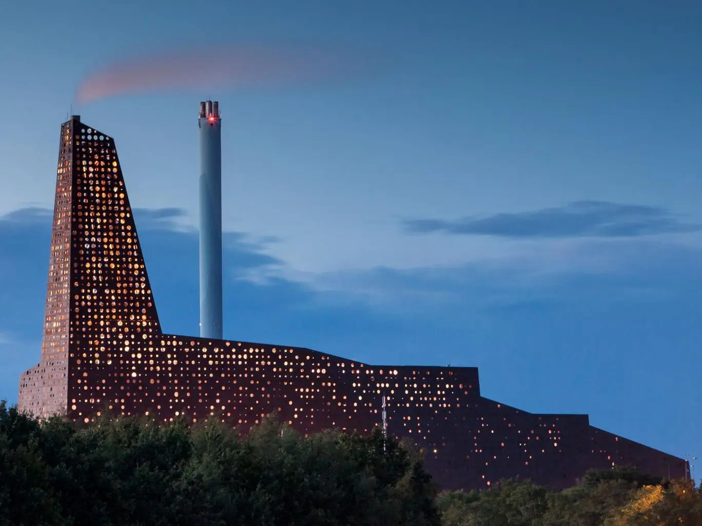The Roskilde incineration line Nuclear Power Station in Denmark.