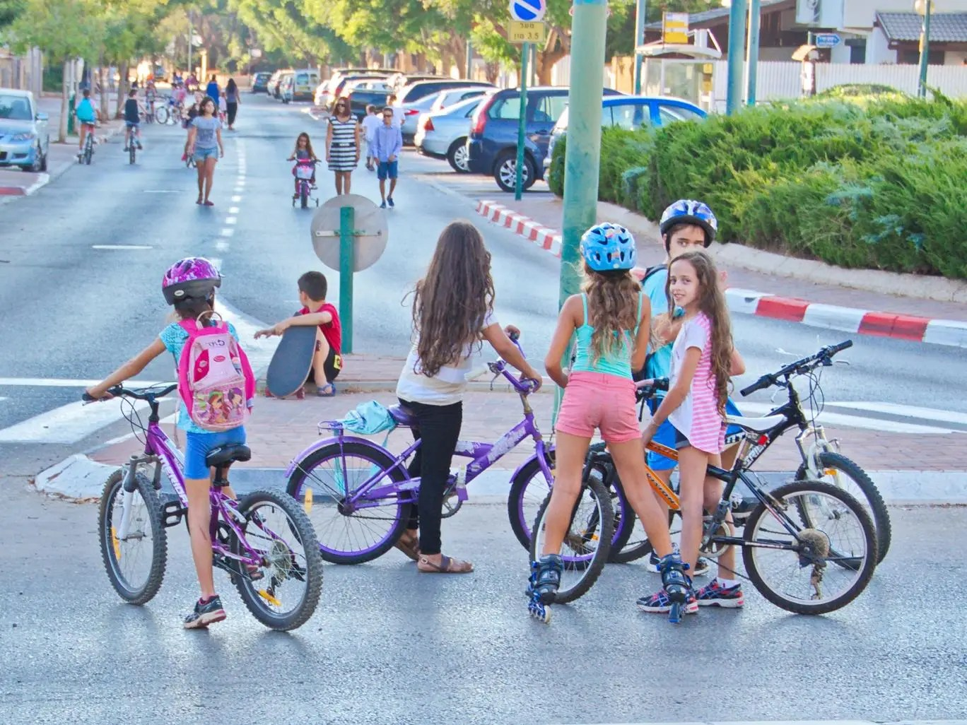 Girls with their bikes in Israel. Photo by dnaveh/ iStock