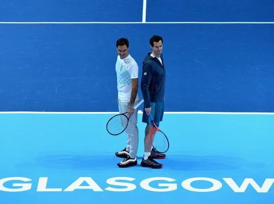 murray federer - Andy Murray targets New Year comeback in Australia but will not rush return after charity match defeat by Roger Federer