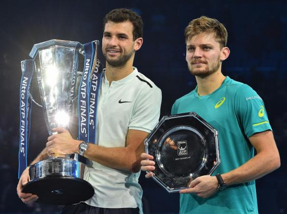 grigor dimitrov 2 - Grigor Dimitrov beats David Goffin in three sets to secure first ATP World Tour Finals title