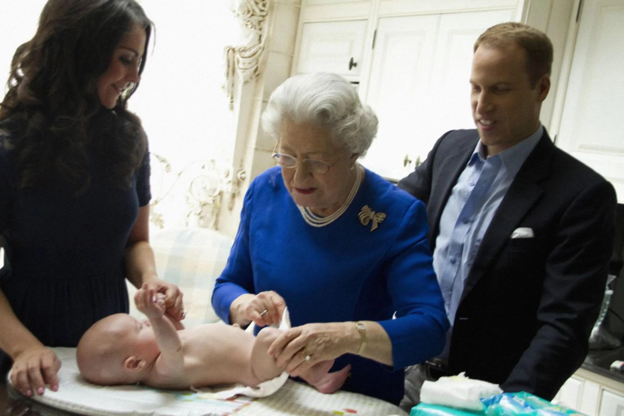 Kate Middleton Holding Her Baby