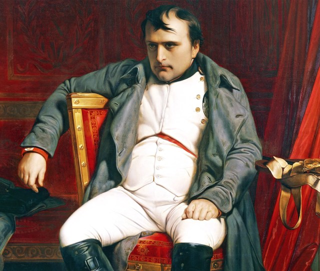 Diminutive Dictator Paul Delaroches 1814 Portrait Of Napoleon At Fontainebleau