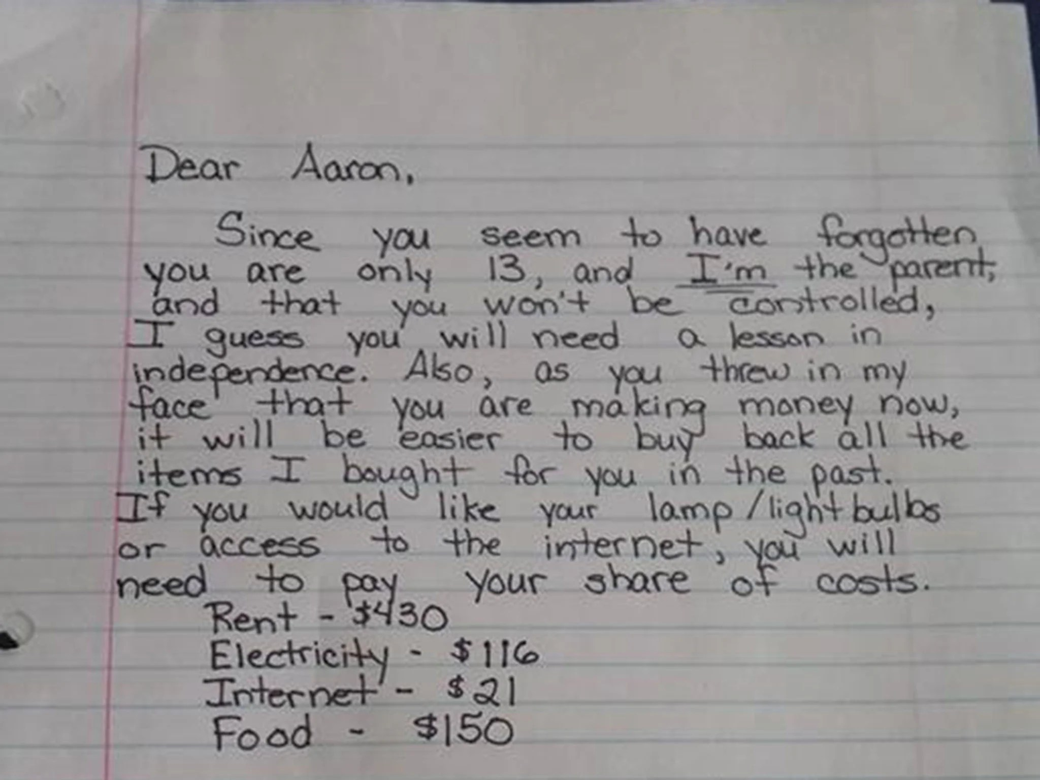 This Angry Mum S Note To Her Teenager Has Gone Viral And