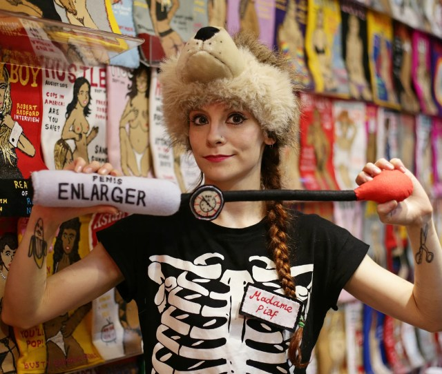 British Artist Lucy Sparrow During A Preview Of Her Solo Show Madame Roxys Erotic Emporium