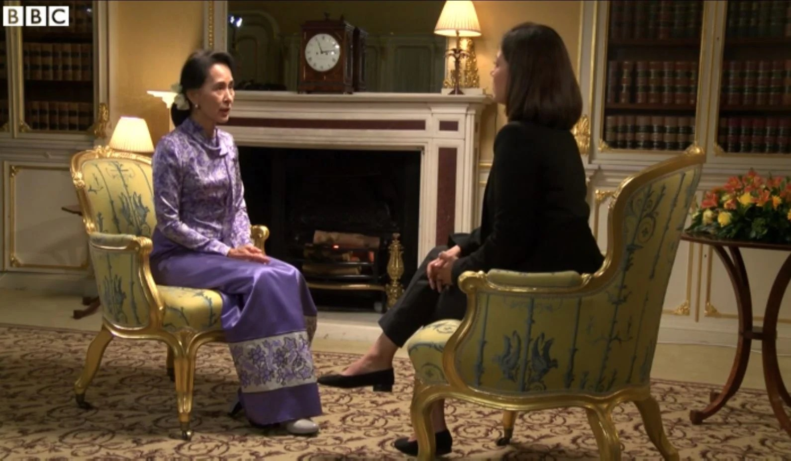 Aung San Suu Kyi made angry \u0026#39;Muslim\u0026#39; comment after tense exchange with BBC presenter Mishal