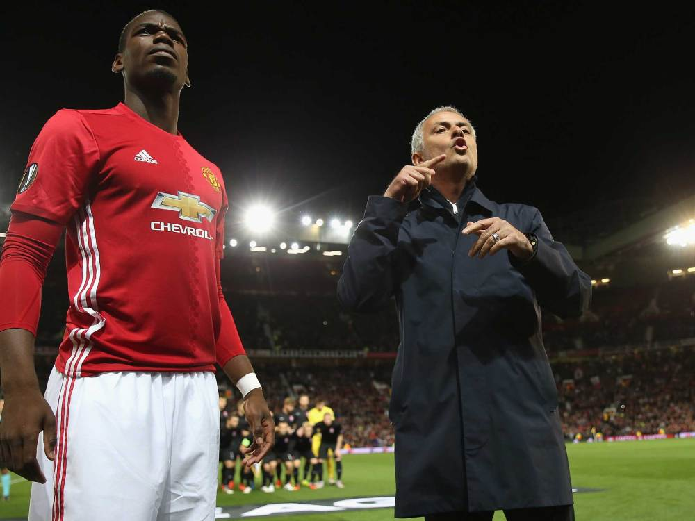 Image result for mourinho and pogba angry together