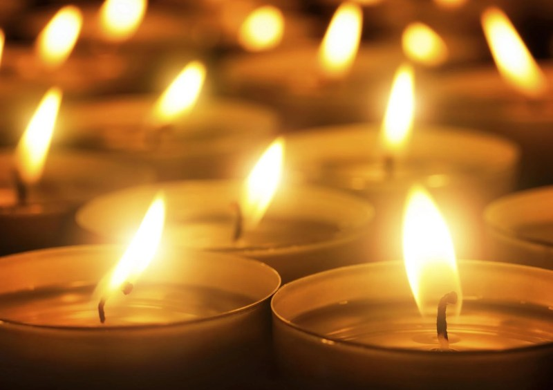 Multiple lit candles