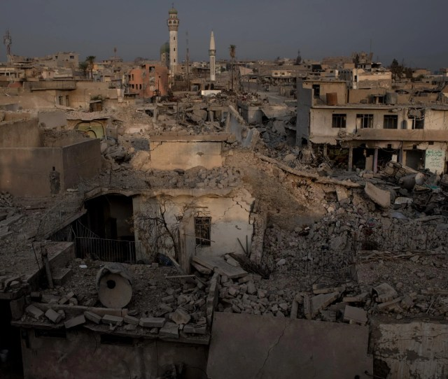 Destroyed Buildings In West Mosul On
