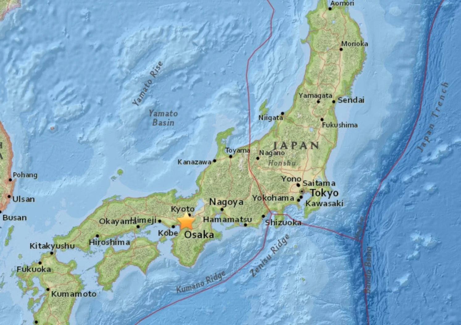 Japan Earthquake At Least Three Dead As 6 1 Magnitude Tremor Hits Osaka