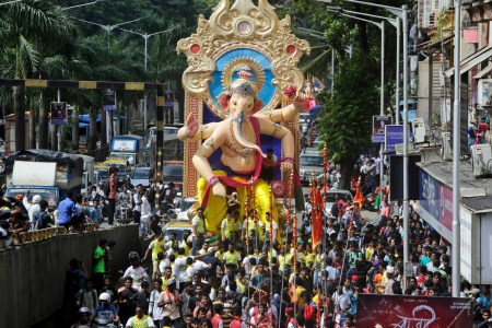 Ganesh Chaturthi  What is the Hindu festival celebrating the     Devotees carry an idol of the Hindu god Ganesha to a temporary place of  worship for the Ganesha Chaturthi festival in Mumbai  Rajanish Kakade AP