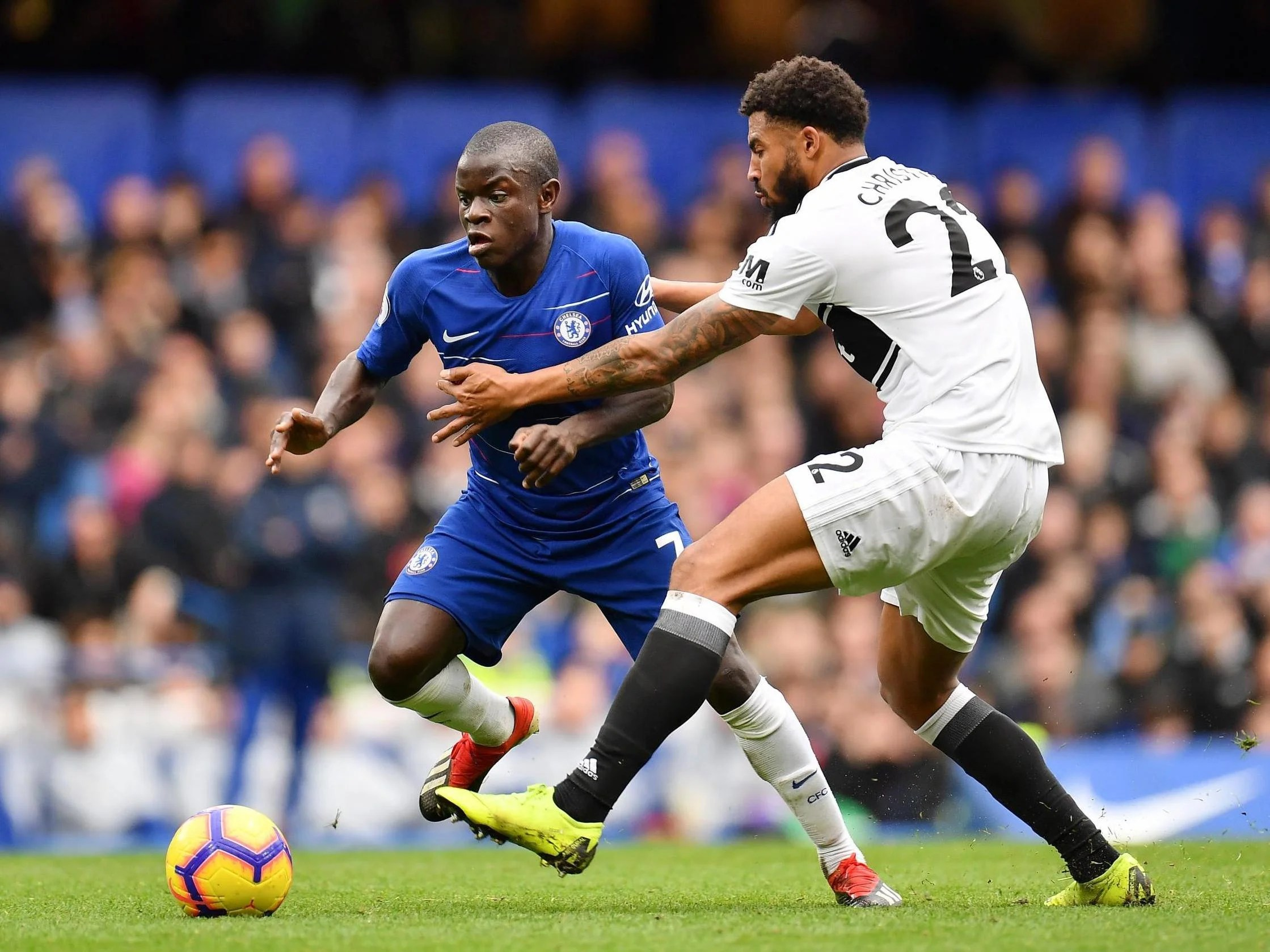 Image result for n'golo kante vs fulham