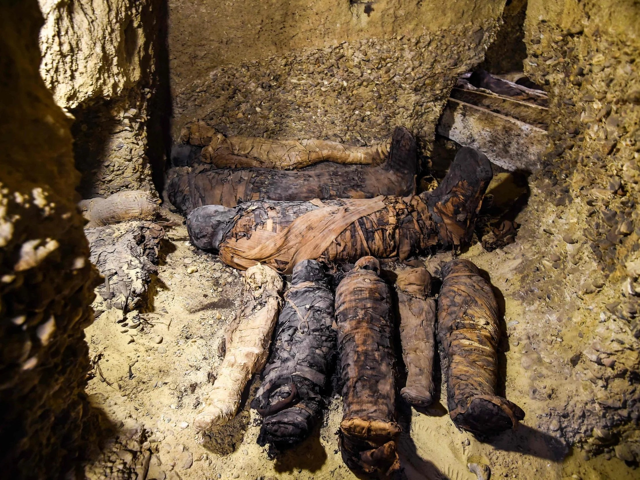 Ancient Desert Tomb Reveals 50 Egyptian Mummies Including