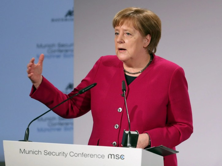 Merkel speaks at 55th Munich Security Conference (Getty)