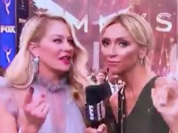 Christina Applegate has awkward Emmys red carpet moment with E! host Giuliana Rancic
