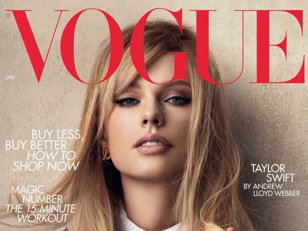 Taylor Swift wears vintage Chanel on Vogue cover to